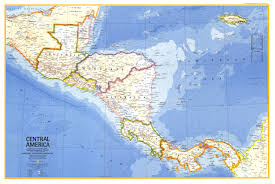 Centro America Map by 1973 Central America Map Historical Maps