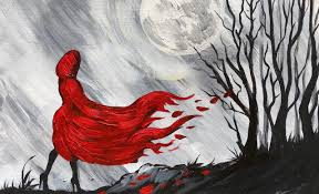 red riding hood step step beginner learn paint
