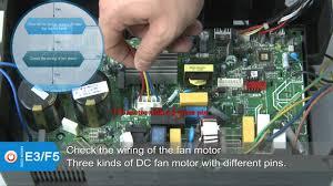 superair mini split air conditioner code for e3 f5 youtube