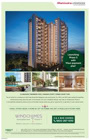 mahindra life spaces launching phase 11 with flexi payment plan ad