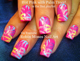 robin moses nail art easy neon pink summer nails up and perfect