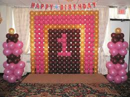 1st Birthday Decoration Ideas At Home Birthday Decor Stage Image Inspiration Of Cake And Birthday