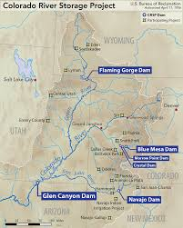 Southwest Colorado Map by Colorado River Storage Project Wikipedia