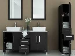 Sirius Double Bathroom Vanity Espresso Bathgemscom - Black bathroom vanity with vessel sink