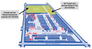 layout of penn station layout