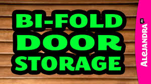 video how to organize and add storage to bi fold closet doors