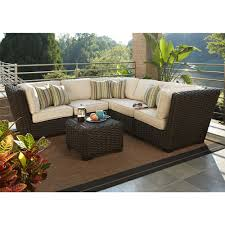 Lowe Outdoor Furniture by Allen Roth Blaney 6 Piece Patio Sectional Conversation Set 2