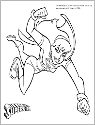 supergirl printable coloring pages coloring home
