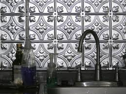 Metal Backsplash Ideas HGTV - White tin backsplash