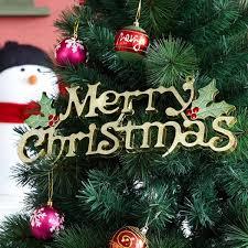 merry christmas words ornament pendant wall door xmas tree hanging