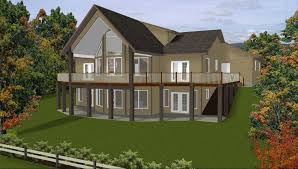 Ranch Home Plans With Pictures House Plans Finished Walkout Basement Ideas Hillside House