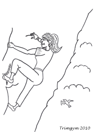rock climbing coloring pages download and print for free
