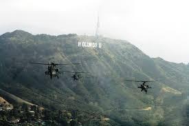 Military Counterterrorism Exercise over LA