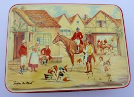 before the meet mb england toffee tin vintage advertising fox