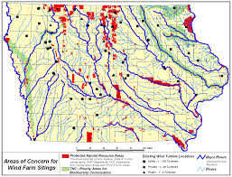 Map Of Iowa State by Usfws Wind Potential And Biological Resources Maps