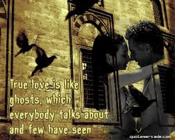 Love is like ghosts, Immature Love