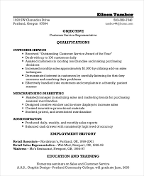 Customer Services Resume Sample by Customer Service Representative Resume 9 Free Sample Example