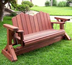 Free Wooden Garden Chair Plans by Adirondack Chain Gliders Options 3 Person Old Growth Redwood