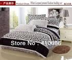 Hot Red Rose Leopard circle printed Bedding set Black Comforter ...