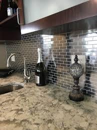 Tile Sheets For Kitchen Backsplash Kitchen Backsplash Stainless Steel Panel Behind Range Metallic
