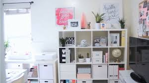 craft room makeover ikea expedit kallax shelf restyling and