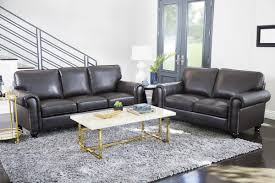 darby home co coggins leather 2 piece living room set u0026 reviews
