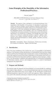 Informative Speech Essay Examples Some Principles Of The Durability Of The Informative Professional