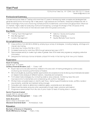 Professional Head of Trading Templates to Showcase Your Talent     Resume Templates  Head of Trading