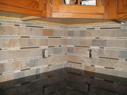 Kitchen Glass Backsplash Ideas Stone And Glass Backsplash Tiles Home Design Inspirations