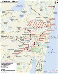 Metro Lines Map by Chennai Metro Rail Map Chennai Metro Stations Routes