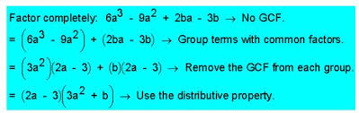 Factor by grouping   Online Math Homework Help Factor by grouping  in layman language  is simply defined as the grouping of terms with common factors before factoring a polynomial