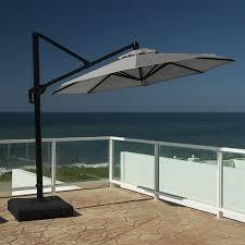 Offset Patio Umbrella by Shop Rst Brands Charcoal Grey Offset Patio Umbrella Common 10 Ft
