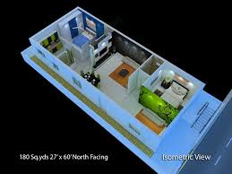 900 Sq Ft Floor Plans by Superb Narrow Apartment Floor Plans 5 180 Sq Yds 27x60 Sq Ft