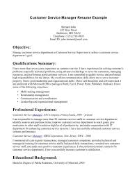 Resume Examples  Example of Resume Objective for Customer Service