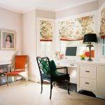 Bay Window Desk Office Room Home Office Midcentury With Contemporary White Desks