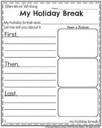 Winter Writing Prompts for K  nd grade     winter prompts    Christmas