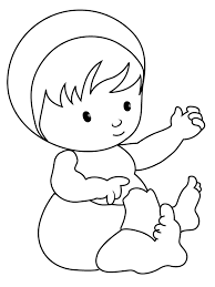 baby coloring pages good 4403