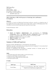 Mba Sample Resume by Sample Resume Of Fresher Mechanical Engineer