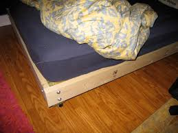Plans For Wooden Platform Bed by Strong And Tough Platform Bed Diy 7 Steps With Pictures