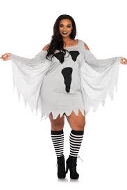 grey plus size jersey ghost dress plus size costume