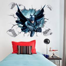 batman through wall stickers with decor decal art removable vinyl