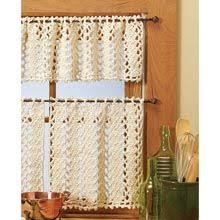feather stitch valance pattern by mickie akins crochet curtains