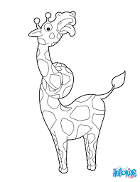 giraffe coloring pages kids crafts and activities drawing for