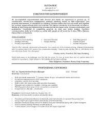 Construction Superintendent Resume Examples And Samples     happytom co