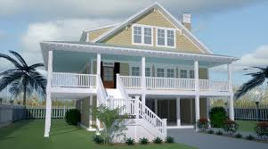 Raised Beach House by Plan No W15035nc Narrow Lot Beach House Plan Stilts