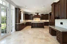 tile floors kitchen with stone backsplash island beadboard