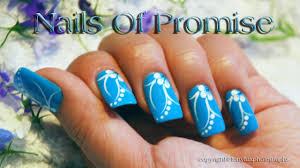 blue acrylic nail design live tutorial nails of promise youtube