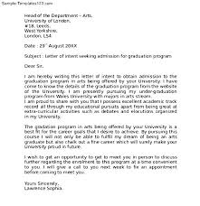 How To Write A Graduate Letter Of Intent   Cover Letter Templates