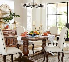 Discount Dining Room Sets Free Shipping by Bowry Reclaimed Wood Fixed Dining Table Pottery Barn