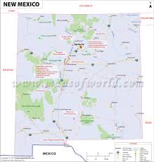 United States Map Major Cities by New Mexico Map Showing The Major Travel Attractions Including